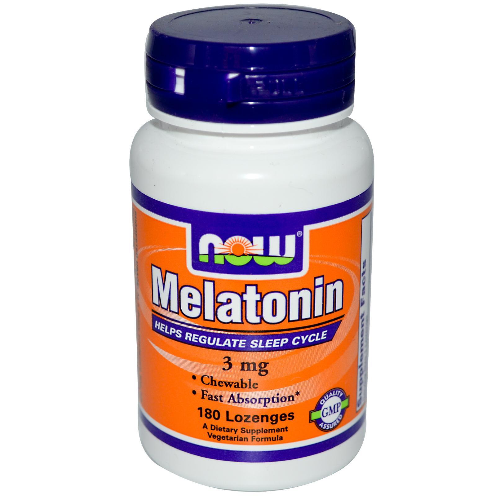 Now melatonin, 3 мг, 180 пастилок